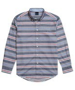 Tommy Hilfiger Adaptive Mens Custom-Fit Marky Twill Stripe Shirt Size XL - $37.17