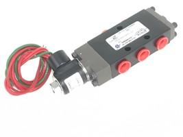 "NEW OMNI 375-02-001-37 SOLENOID VALVE 1/4"" NPT 24V DC COIL 7W, 30-150 PSI"