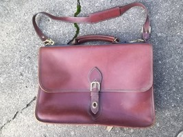 """""""Cole Haan"""" Leather Shoulder Handbag Brown Leather Beautiful Need Latch Replaced - $29.70"""