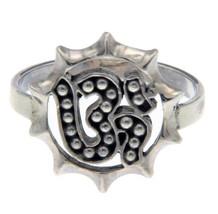 925 Sterling Silver OM Die Cut Ring Size 6»R15 - £11.71 GBP