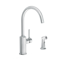 Sombra Single-Handle Standard Kitchen Faucet with Side Sprayer in Chrome NEW! - $109.00