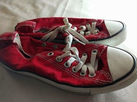 Womens Shoes Converse Size 5 UK Synthetic Red Shoes - $26.09