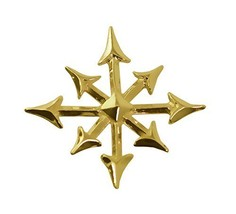 24K Yellow Gold Plated Gothic Magic Star chaosphere Pendant Charm anarch... - $44.55