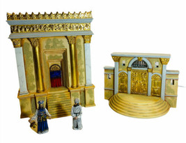 Department 56 Little Town Of Bethlehem Herod's Temple 4 Piece No Chord Torn Box - $39.59