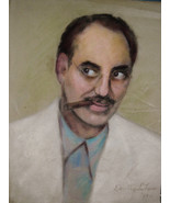 Vintage Signed 1953 Sketch of Groucho Marx Comedian by Dorthy LaFeore Es... - $259.00