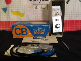 MURA CBM-10 CB SWR FIELD STRENGTH METER IN BOX WITH ACCESSORIES AND MANUAL image 1