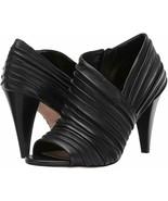Women Vince Camuto Anara Peep Toe Booties, Multi Sizes Black Baby Sheep ... - $119.95