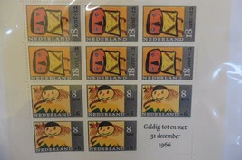 G84 Netherlands 1966 Children stamps sheet December Unused - $11.63