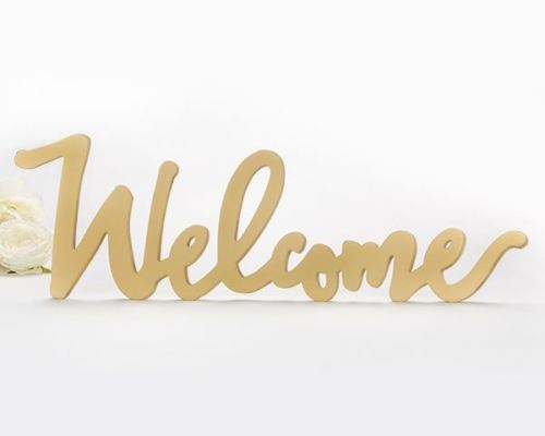 Gold Welcome Table Sign