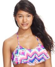 California Waves Bikini Top Sz S Multi Color Halter Swim Swimwear Top MY... - $16.44
