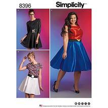 Simplicity Pattern 8396 Plus Size Wonder Woman Black Widow or Pokemon Cosplay Dr - $5.99