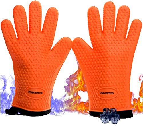 No.1 Set of Silicone Smoker Oven Gloves - Extreme Heat Resistant Washable Mitts