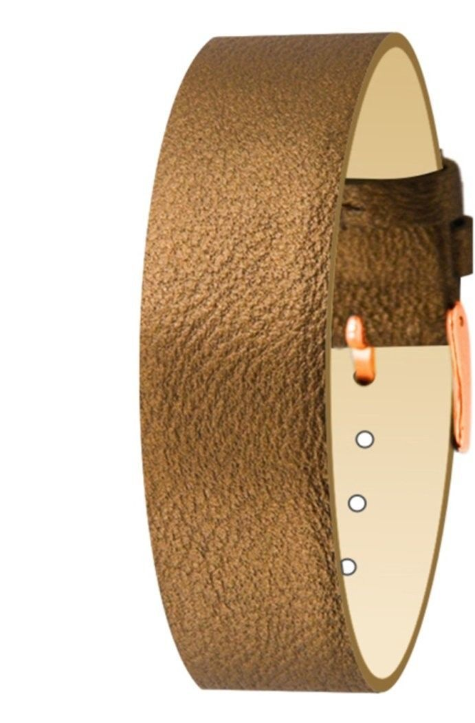 Primary image for Moog Paris Brown Pecari Leather Bracelet for Women, Metallic Pattern, Pin Clasp,