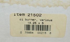 Music City Metals 21502 Gas Grill Burner Two Pieces Cast Iron image 6