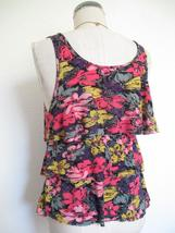 Urban Outfitters Pins and Needles Tank Top S Tiered Ruffle Soft Rayon Knit Zip image 7