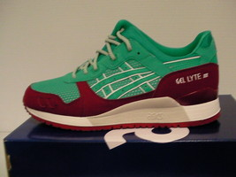 Asics running shoes gel-lyte iii size 10.5 us men spectra green - $98.95