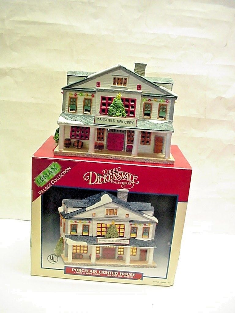 lemax dickensvale collectibles mansfield grocery christmas village lighted house