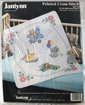 Janlynn Printed Cross Stitch Playland Pals Quilt Kit 957-68 New in Packa... - $40.87