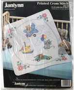 Janlynn Printed Cross Stitch Playland Pals Quilt Kit 957-68 New in Packa... - $62.88