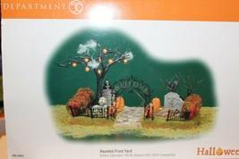 Dept 56 Snow Village Halloween - Haunted Front Yard - #52924 - EUC - $34.95