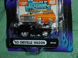 Muscle Machines 02-55 '65 Chevelle Wagon Gloss Black Free Usa Shipping - $11.29