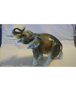 VINTAGE ROYAL DUX CERAMIC ELEPHANT, from CZECHOSLOVAKIA, TRUNK UP FOR GO... - $148.50