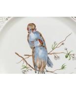 Gesetzlich Geschutzt Reticulated Pierced Plate Hand Painted Blue Love Bi... - $33.66