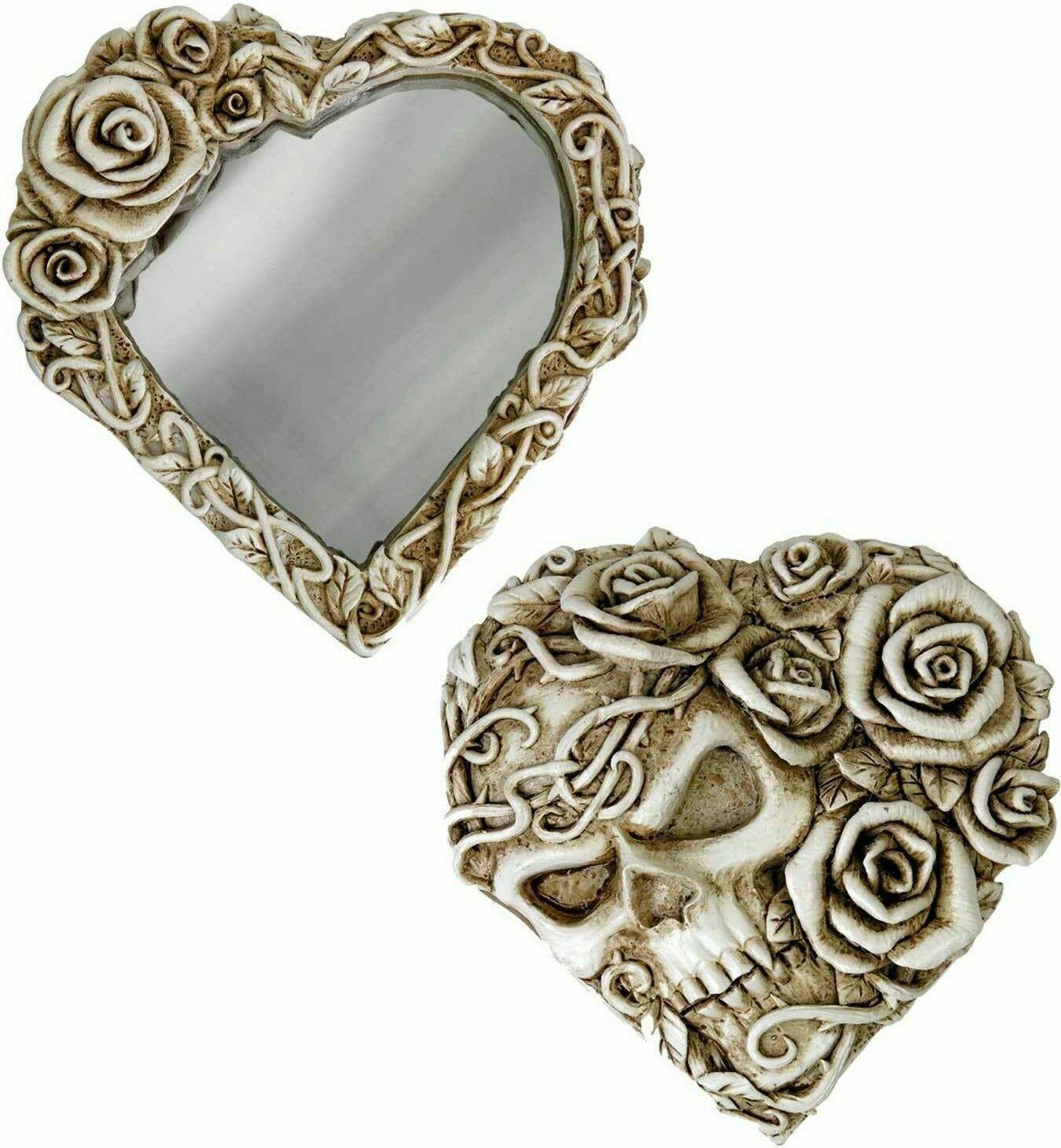 Alchemy Of England Gothique Fate de Narcisse Rose Crâne Maquillage Miroir