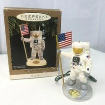 Neil Armstrong Moon Eagle Has Landed Hallmark Ornament 1994 w/Box SOUND ... - $19.20