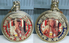 "VTG 70's Budweiser Pocket Watch Locket Rare 20"" Rotating Beer Sign Mancave VIDEO - $459.95"