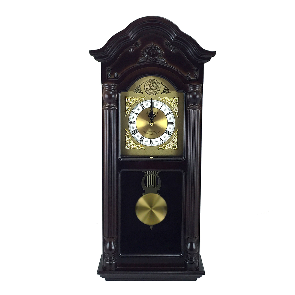 Primary image for Bedford Clock Collection 25.5 Inch Antique Mahogany Cherry Oak Chiming Wall Cloc