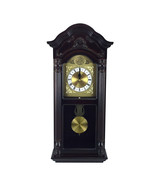 Bedford Clock Collection 25.5 Inch Antique Mahogany Cherry Oak Chiming W... - $139.36