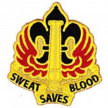 US ARMY18th Field Artillery Fire Brigade Military Patch SWEAT SAVES BLOOD - $9.89