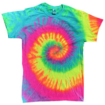 Multi-color Minty Rainbow Tie Dye T-SHIRT Mens Womens Size Large - $14.99