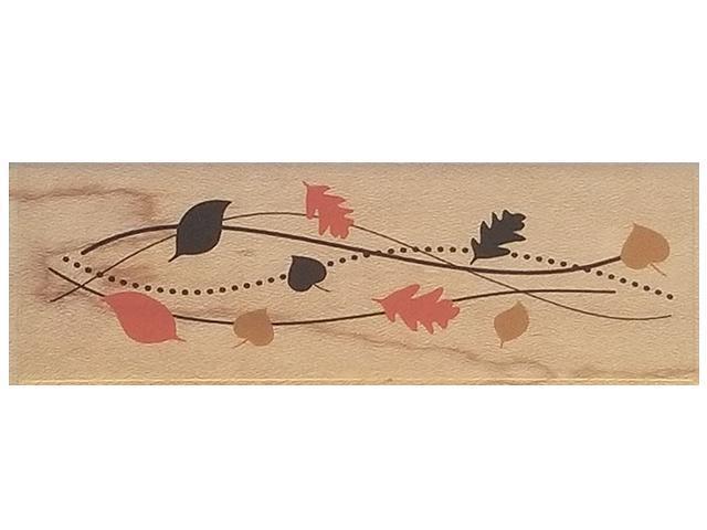 Inkadinkado-Fall Leaves Border-Rubber Stamp #95774