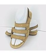 I Love Comfort Beige Suede Leather Sandals Size 6.5Strap Low Heel Shoe  - $39.59