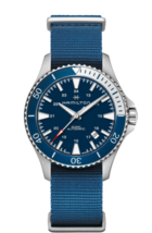 Hamilton H82345941 40mm Blue Nylon Band Khaki Navy Scuba Automatic Mens ... - $504.70