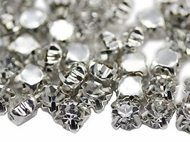8.20mm SS40 Crystal Clear Sew on Crystal Diamante Rhinestone Rose Montee... - $11.87
