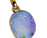 Fashion Gold Plated Druzy Drusy Gemstone Pendant Jewelry FTHU25MJP40