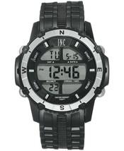 I. N.c. Hombres Negro Plata Resina Silicona Correa 46mm Digital SPORTS Reloj Nib