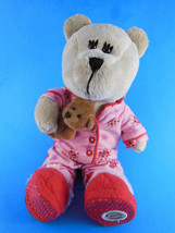 Starbucks Bearista 2007 69th Edition Bear In Pink PJ's w small Plush ted... - $9.69