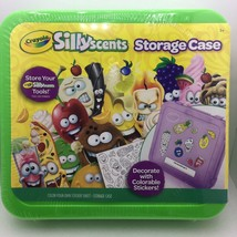 Crayola SillyScents Storage Case with Colorable Sticker Sheet Green Sealed - $9.99