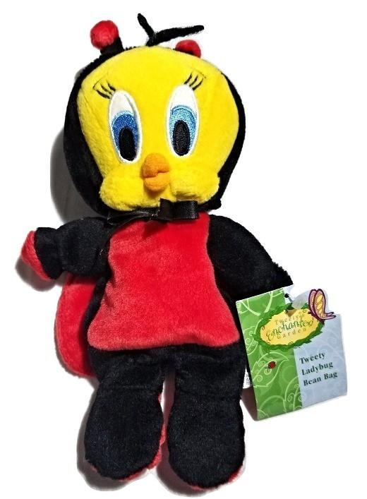 Warner Brothers Store TWEETY BIRD Looney Tunes Plush Bean Bag Easter Bunny NWT