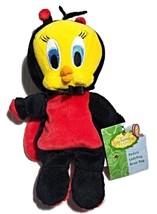 """Tweety Ladybug Bean Bag Plush--9""""--Warner Bros. Enchanted Garden 1999 - $7.00"""