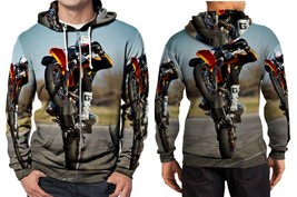 biker KTM 690 SMC Supermoto 2 Hoodie Zipper Fullprint Men - $46.80
