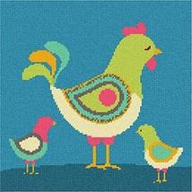 pepita Hen and Chicks Needlepoint Canvas - $65.00