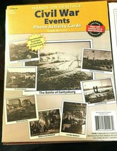 Hands On Heritage Civil War Profiles & Events Photo Activity Cards New - $14.67