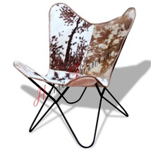 Hardoy Butterfly Leather Chair Hide Chairs Handmade Cover Cowhide Hair On - $227.70