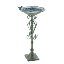 Speckled Green Cast Iron Bird Bath - $38.81