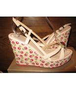 Cindy Says cherry cherries leather rockabilly VLV platform sandals shoes 9 - $148.67